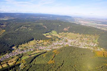 Luftbild Manebach / Thüringer Wald
