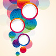abstract design circles background.