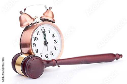 Gavel and old clock - 80370115