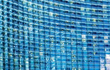 Blue Glassy Building