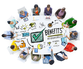 Benefits Gain Profit Earning Income People Meeting Concept