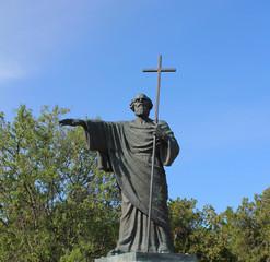 Statue St. seer in the hands of cross