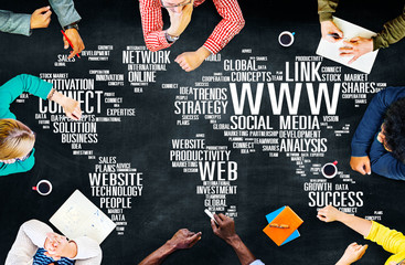 WWW Social Media Internet Connection Global Networking Concept