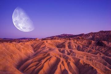 Death Valley Moon Night