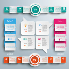 Big Infographic Speech Bubbles Rectangles Circles