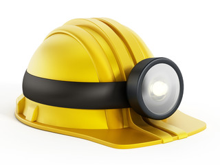 Hardhat with light fixture