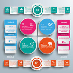 Big Infographic Markers Batched Rectangles Circles