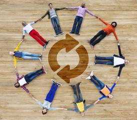Refresh Repeat Symbol Round Rotation Undo Circular Concept