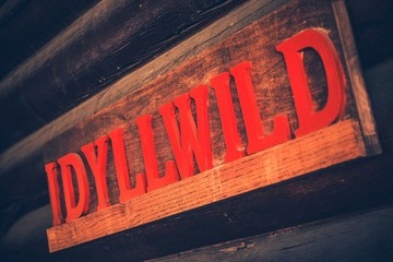 Idyllwild Wooden Sign