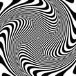 Torsion illusion. Abstract op art design.