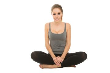 junges Mädchen macht Yoga
