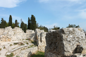 Walls and ruins of the ancient city, Hersonissos, Crimea