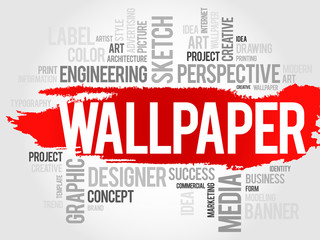 WALLPAPER word cloud, business concept