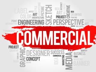 COMMERCIAL word cloud, business concept