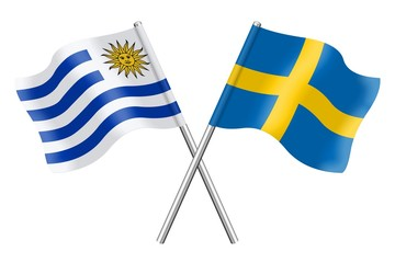 Flags: Uruguay and Sweden
