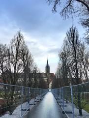 Bauzaun für die Landesgartenschau 2016 in Öhringen