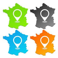 géolocalisation france 4 couleurs