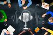 Music Multi Media Microphone Entertainment Concept