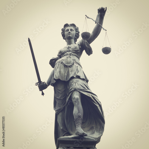 Foto op Canvas Standbeeld Lady Justice