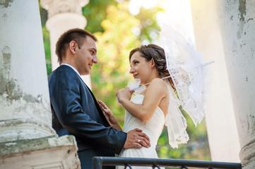 Young couple wedding