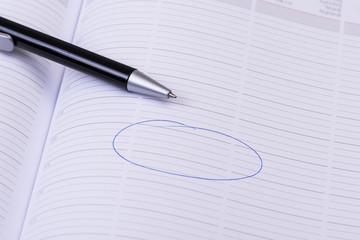 geschäftlichen termin aufschreiben