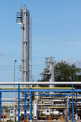 refinery oil industry pipelines and equipment