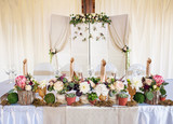 Beautiful table set for wedding party