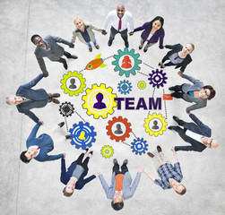 Business People Connection Togetherness Gear Corporate Team