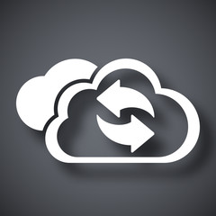 Vector cloud computing refresh icon
