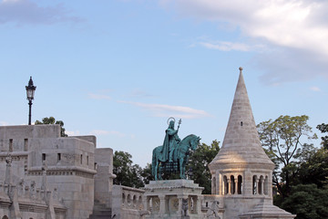 Fisherman's tower and king Matthias statue Budapest
