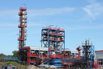 petrochemical plant oil industry construction site