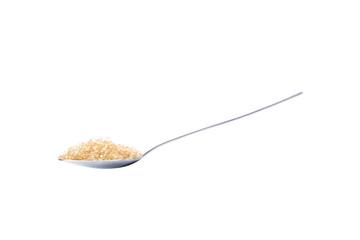 brown sugar on teaspoon