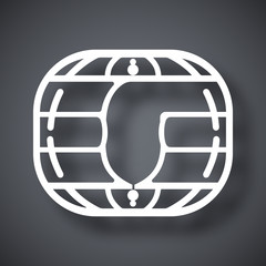 Vector chip card icon