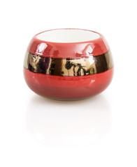 Stylish ceramic candlestick with reflection