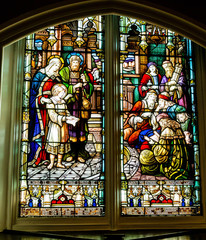 Beautiful Scene in Stained Glass