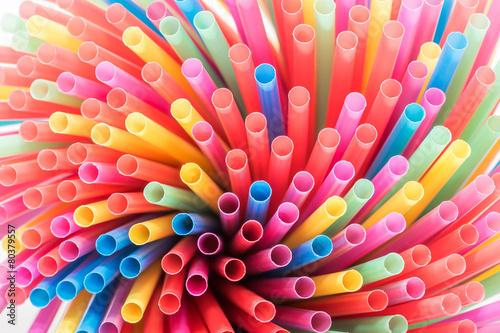 Pailles multicolore - 80379557