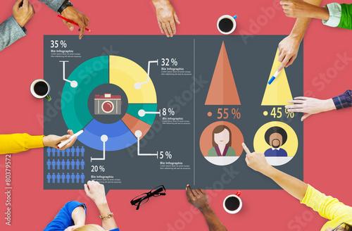 Analysis Analytic Marketing Sharing Graph Diagram Concept - 80379572