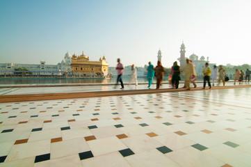 Prayers walking by Golden Temple