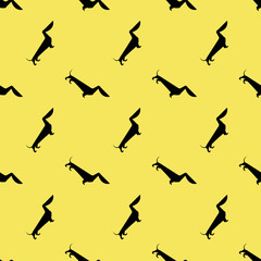 dog dachshund pattern