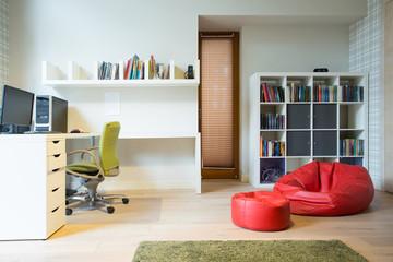 Stylish accommodation of room