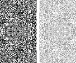 Abstract black and white seamless background