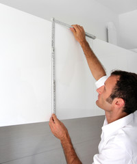 Measuring the kitchen