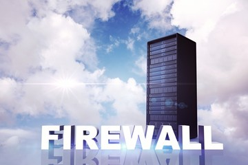 Composite image of firewall