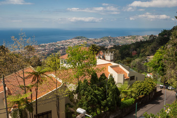 Rooftops of Funchal from Monte in Madeira