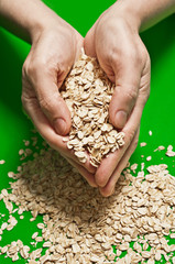 Oats in a handful