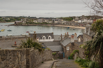 View over St Mary in the Scilly Isles