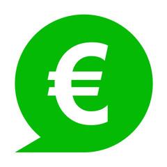Icono simbolo euro en comentario