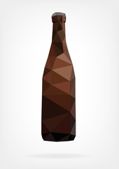 Low Poly Beer Bottle
