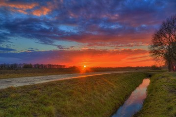 Sonnenuntergang bei Dannenberg
