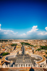 Aerial view of Rome and Vatican City